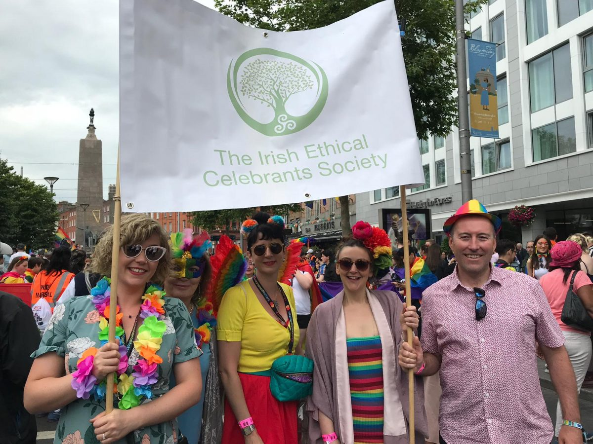 Irish Ethical Celebrant Society at Pride 2019